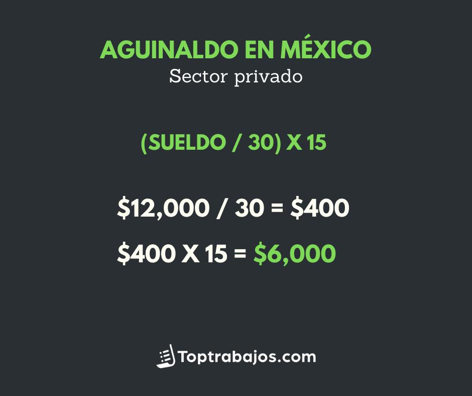 Aguinaldo completo en México - sector privado