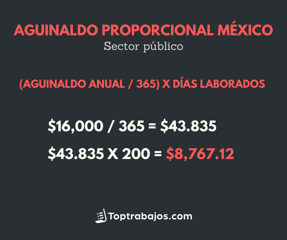 Aguinaldo proporcional en México - sector público